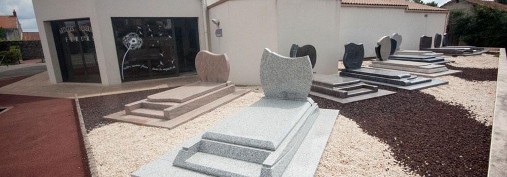Espace marbrerie funéraire en Vendée à Aubigny