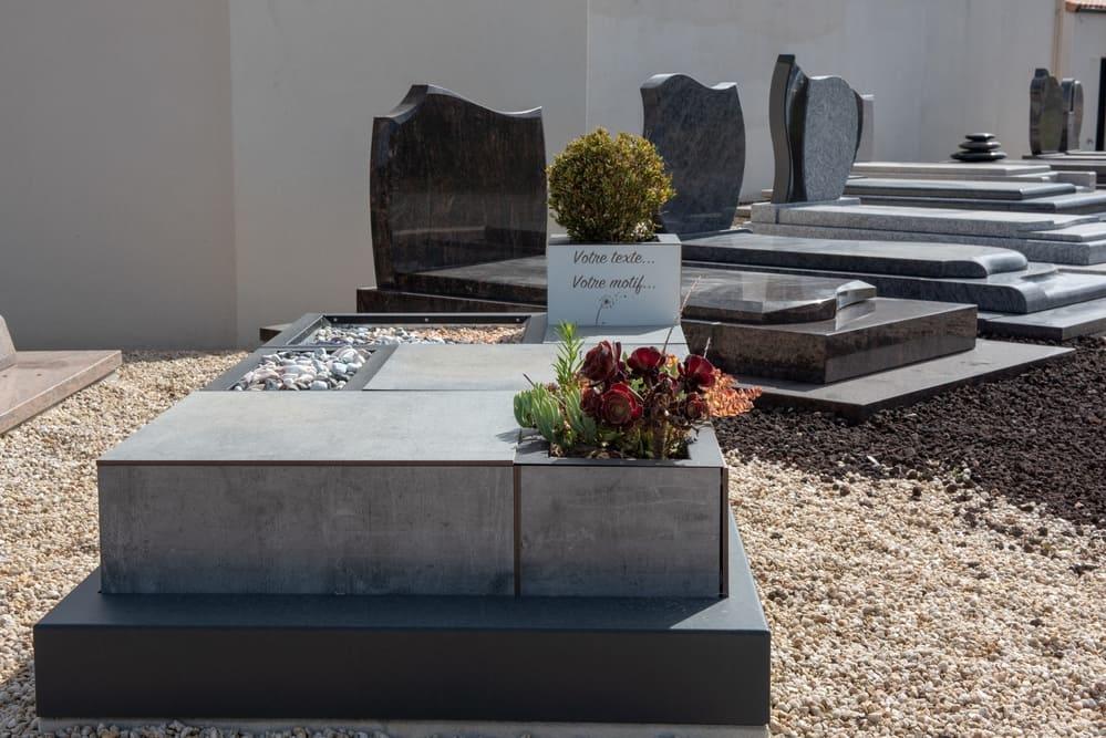 plaque funéraire - Pompes funèbres Andriot - Belleville-sur-vie, Vendée